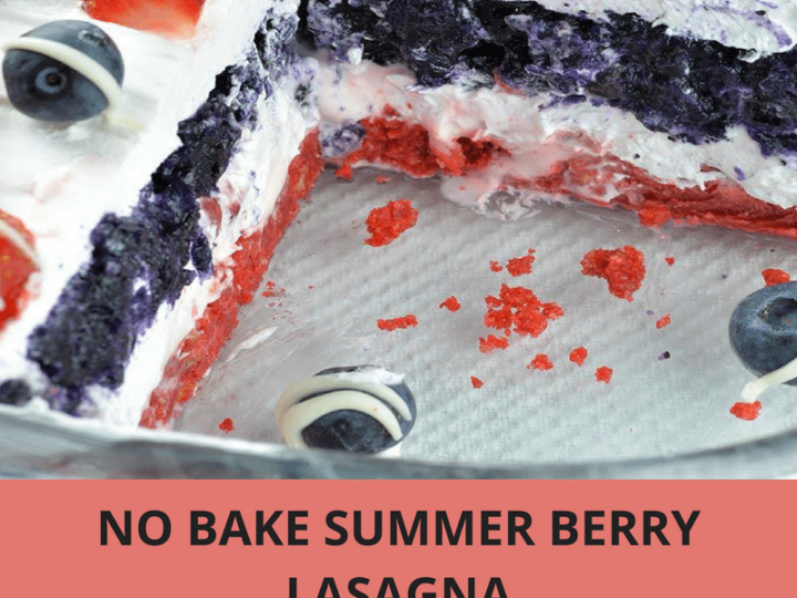 No Bake Summer Berry Lasagna