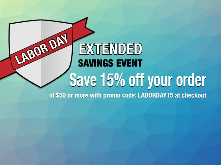 Labor Day Event – EXTENDED!