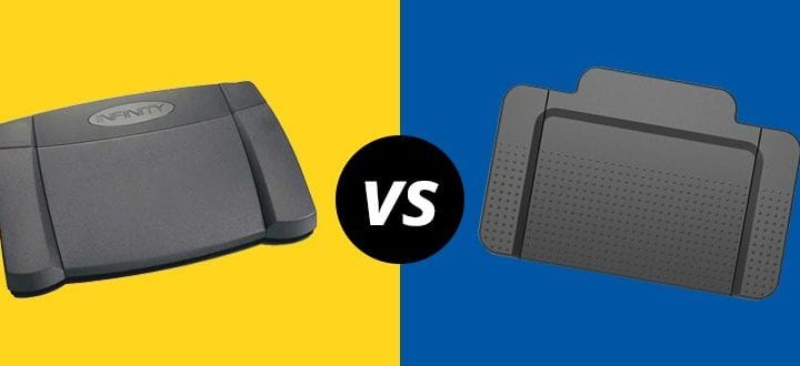 Transcription Foot Pedal Showdown: The Infinity vs. Name Brand